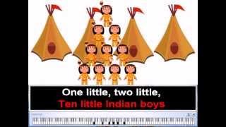 Ten Little Indian Boys - Nursery Rhymes | Children Folk Song (Karaoke)