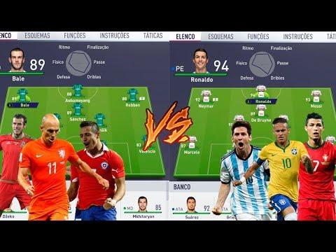 MELHORES QUE NÃO VÃO PARA COPA VS MELHORES QUE VÃO PARA COPA - FIFA 18 EXPERIMENTO