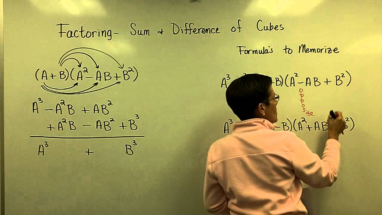 Factoring Sum & Difference Of Cubes Part 1