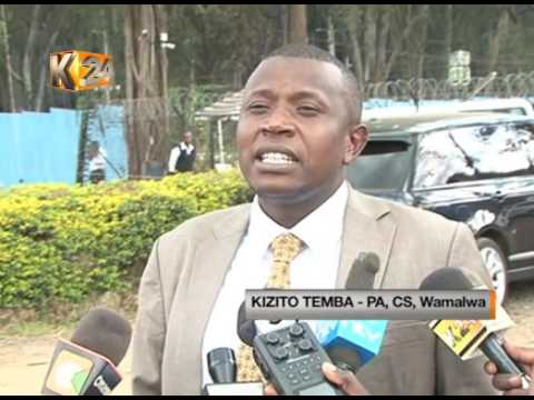 Water CS Wamalwa surrenders vehicle to KRA over tax query