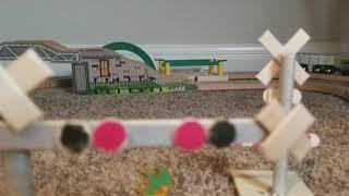 Wooden railroad crossing custom 2