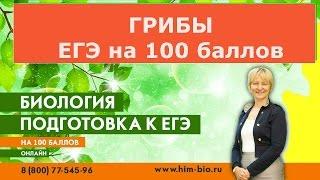 Царство Грибы. Подготовка к ЕГЭ и ОГЭ по биологии