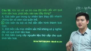 Hướng dẫn giải đề thi chính thức THPT QG môn Sinh – năm 2018 (Mã đề 204) – Thầy Nguyễn Đức Hải