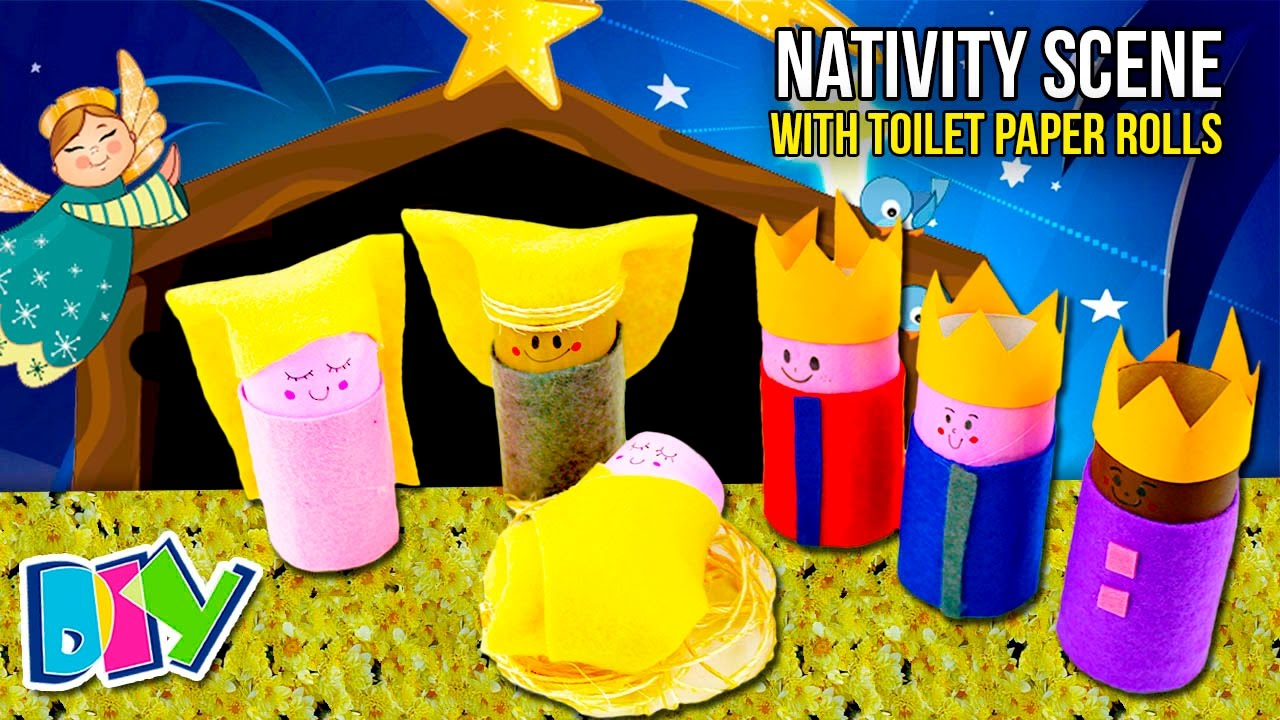 How to make a nativity scene with toilet paper rolls easy crafts how to make a nativity scene with toilet paper rolls easy crafts for christmas time to diy solutioingenieria Images