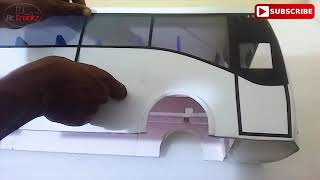 1/14 RC Bus Body Painting/Wiring KSRTC Volvo 9400 Coach B7R AIRAVAT - PART 3