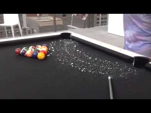 Outdoor Pool Table Drink Spill