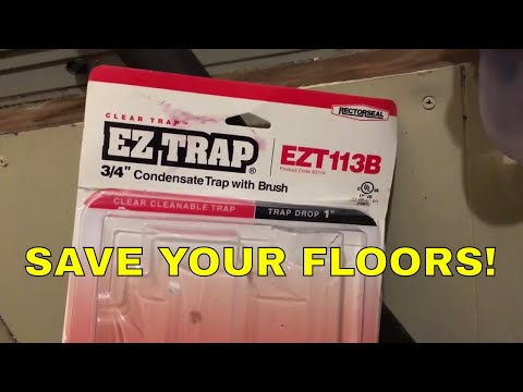 A/C UNIT RUINED MY FLOORS ~ The EZ TRAP is an EZ FIX