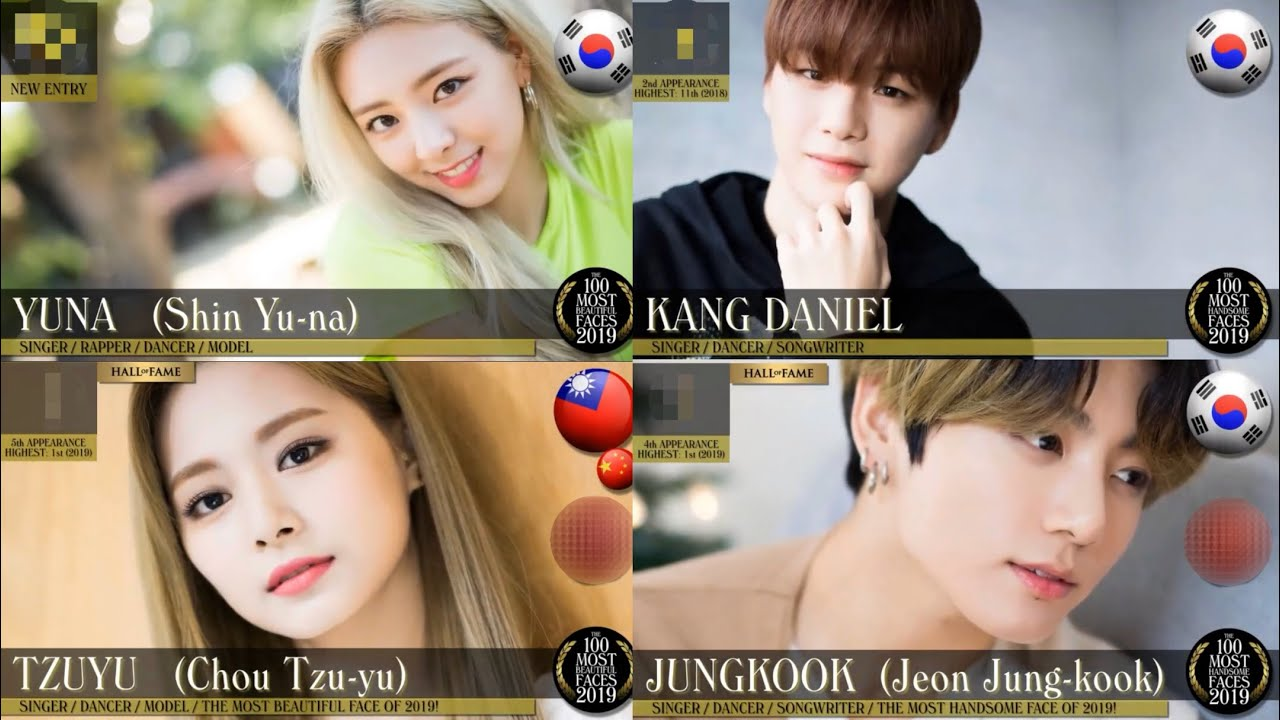 Every Kpop Idol In Top 100 Most Beautiful Handsome 2019 Made By Tc Candler Youtube