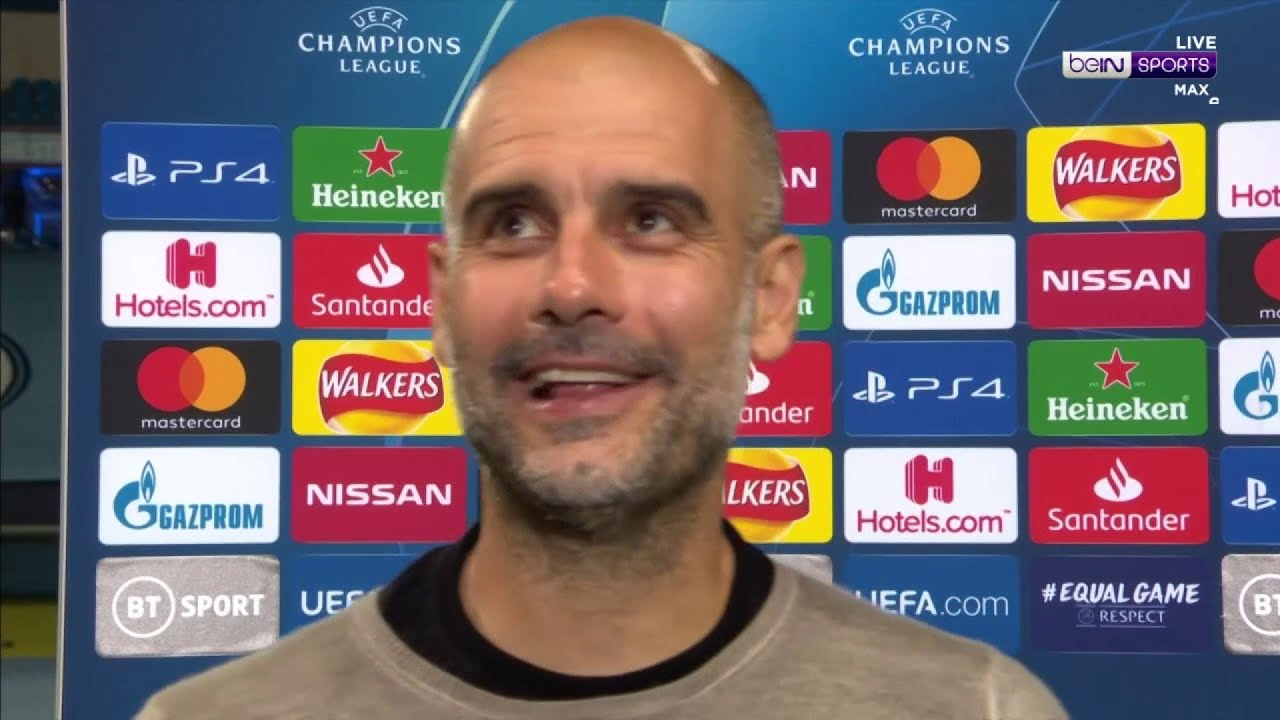Guardiola: 'We're here to win the Champions League'