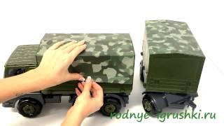 Игрушка военная машина КАМАЗ с прицепом