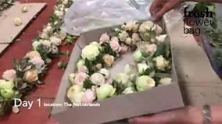 Fresh Flower Bag wedding decoration