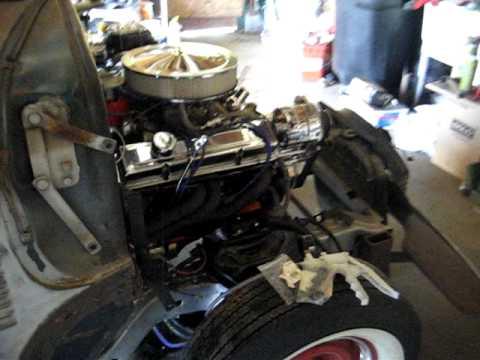 1951 Chevy 350 engine 1st start - YouTube