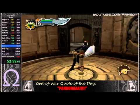 God of War any% NG+ RTA in 1:30:01