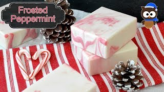 Winter Soap Series - Frosted Peppermint Soap - MO River Soap