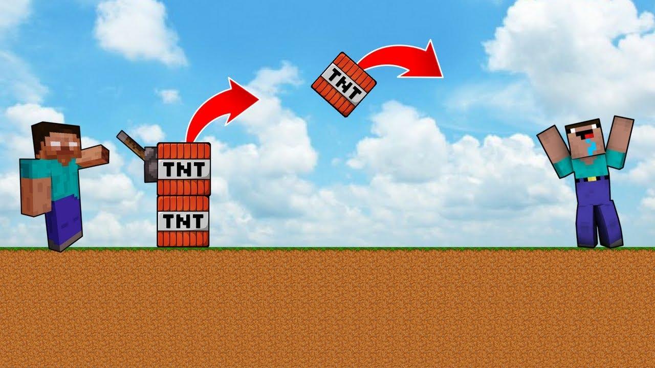 NOOB VS HEROBRİNE #4 - Tnt Makinesi (Minecraft)
