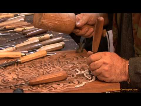 The Process of Wood Hand-Carving the Arabesque