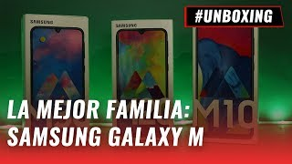 Samsung Galaxy M10, M20 y M30: Unboxing en español Video