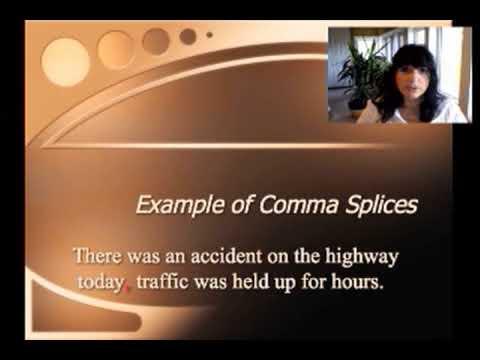 Sentence errors - run-ons/comma splices - YouTube