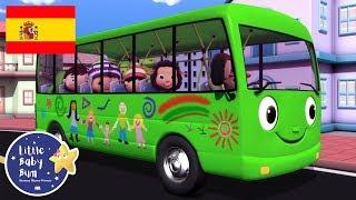 Canciones Infantiles | Las Ruedas del Autobús Verde | Dibujos Animados | Little Baby Bum en Español