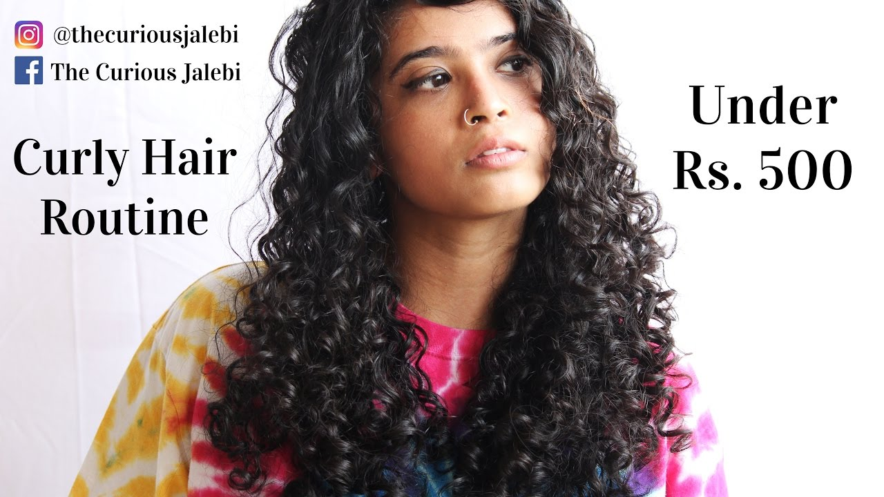 Pocket  Friendly Indian Curly Hair Routine Under Rs. 20