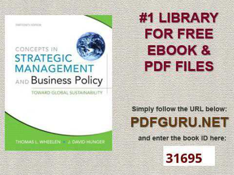 Ebook and strategic business policy management