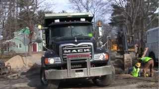 Mack Granite Dumping