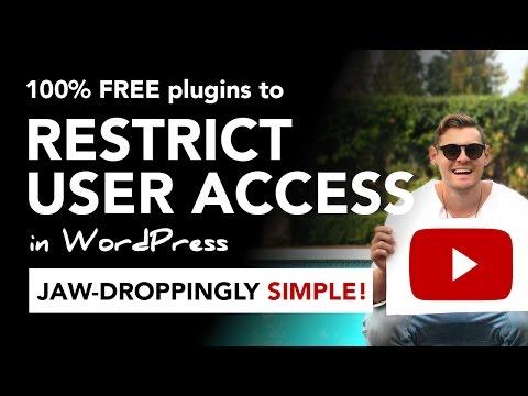 WordPress user access: 100% FREE plugins to restrict user access in WordPress