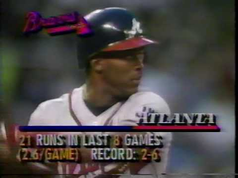 1991 MLB Atlanta vs Philadelphia June 18