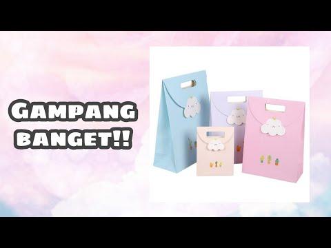 Cara Membuat Paper Bag / Bungkus Kado Ala di Mall | Ayu Rahayu