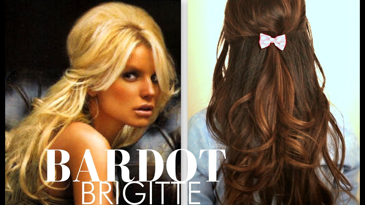 Cute Brigitte Bardot Hair Tutorial Everyday Half Up Half Down