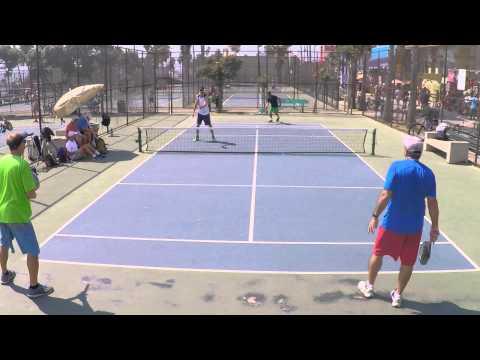 Pro-Level Pop Tennis Court 1 Highlights - June 30, 2015
