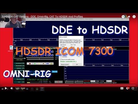 3 HDSDR CAT Options - DDE, Omni-Rig, CAT To HDSDR And Profiles