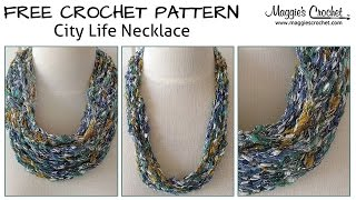 City Life Necklace Free Crochet Pattern - Right Handed