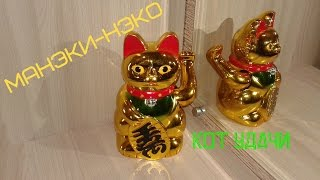 Манэки Нэко - кот удачи / Maneki Neko - good luck cat .
