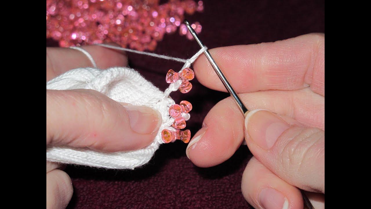 how to make crochet beaded socks