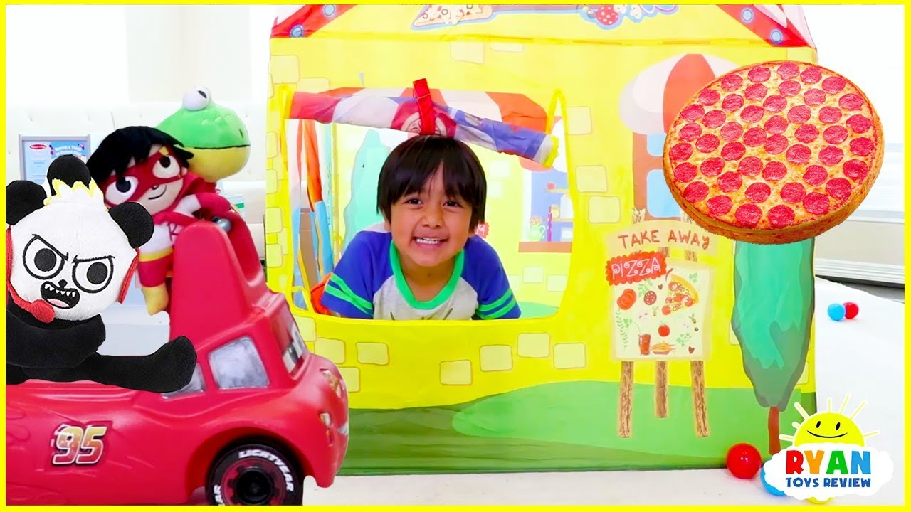 Ryan Drive Thru Pretend Play With Pizza Power Wheels Ride On Car