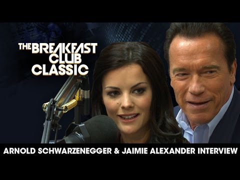 Breakfast Club Classic - Arnold Schwarzenegger and Jaimie Alexander 2013 Interview