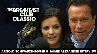 Breakfast Club Classic - Arnold Schwarzenegger and Jaimie Alexander 2013 Interview