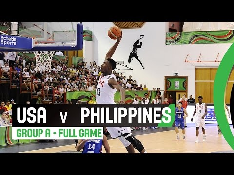 USA v Philippines - Group A Full Game - 2014 FIBA U17 World Championship