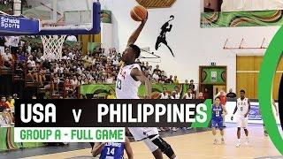 USA v Philippines - Group A Full Game - 2014 FIBA U17 World Championship