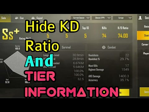 How To Hide KD Ratio And Tier Information In Pubg Mobile Whi