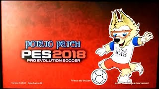 PES 2018 PS3  Potato Patch V6 BLES + BLUS For CFW and OFW HAN