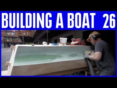 How to Build a Wooden Boat 26 Fairing the Hull - Trawling Motor Tear Down