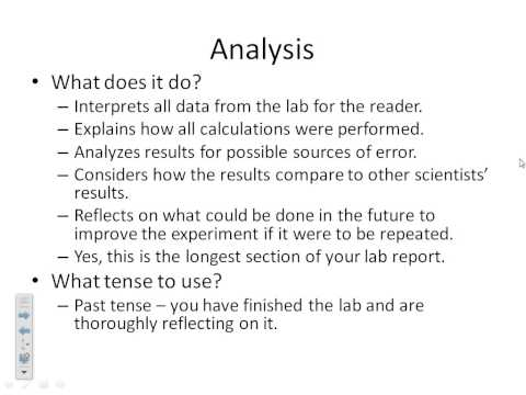 How to Write a Formal Lab Report