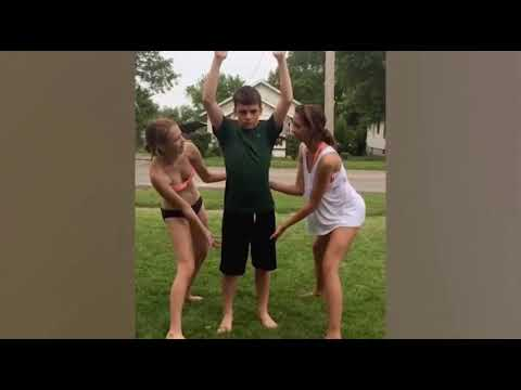 Epic slip and slide fails and falls
