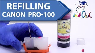How to refill CANON CLI-42 PRO-100 Refillable Cartridges