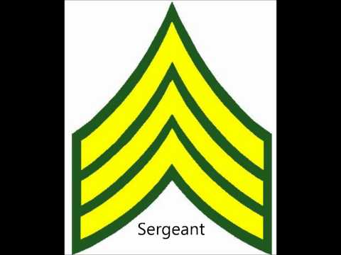 Enlisted and Nco Army ranks