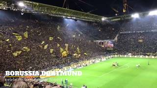 Borussia Dortmund celebrating victory over Bayern
