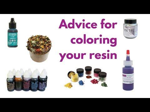 Choosing resin colorants