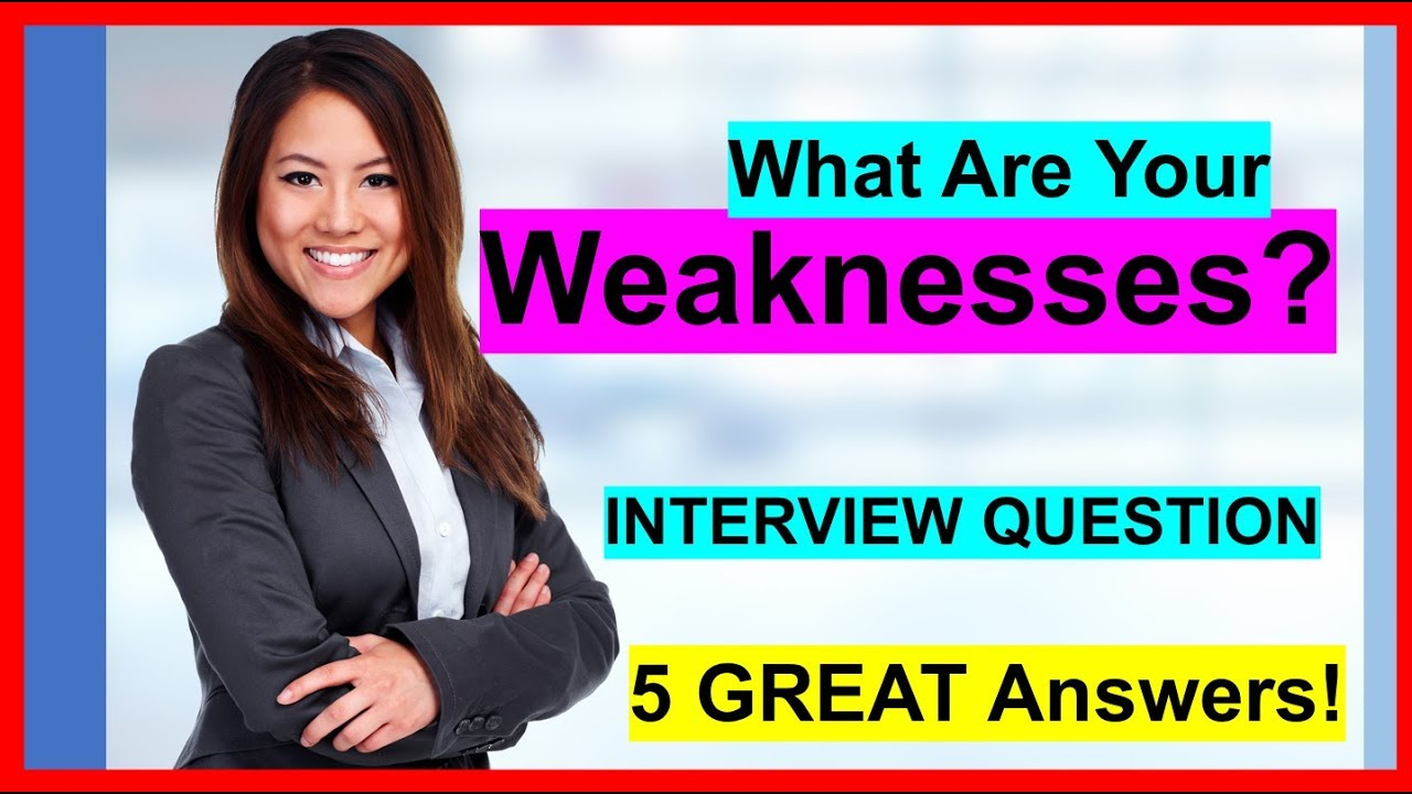 """Download """"What Are Your Weaknesses"""" INTERVIEW QUESTION (5 Sample ANSWERS!)"""